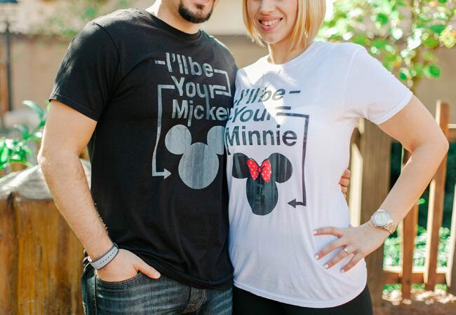 Disney Engagement Shirts | Catherine Ann Photography | From blog.theknot.com