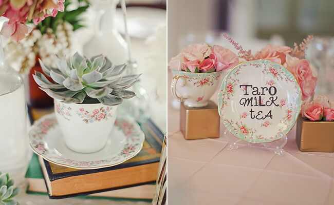 Tea Party Inspired Reception Decor Blog Theknot