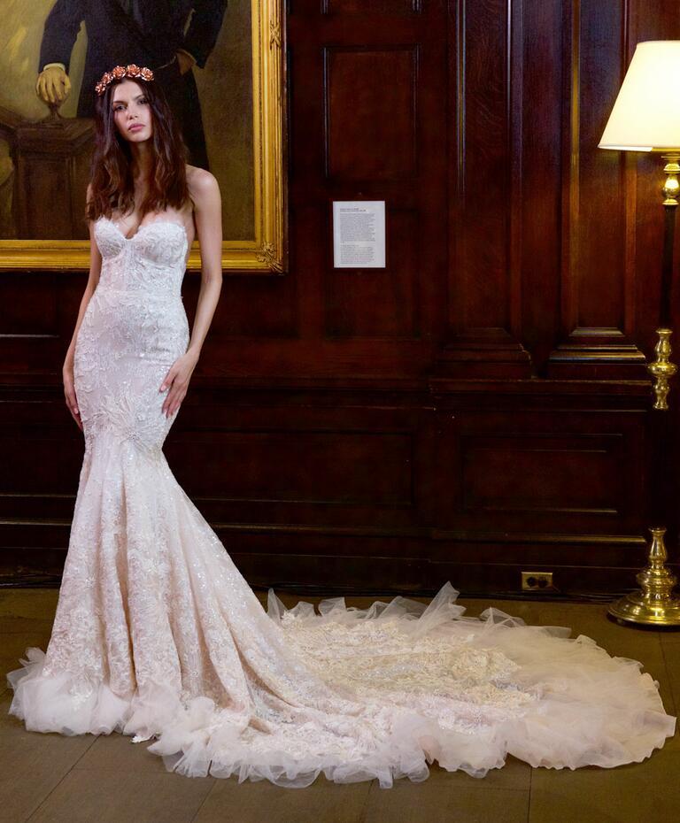 Berta bridal fall winter 2016 collection bridal fashion for Winter mermaid wedding dresses