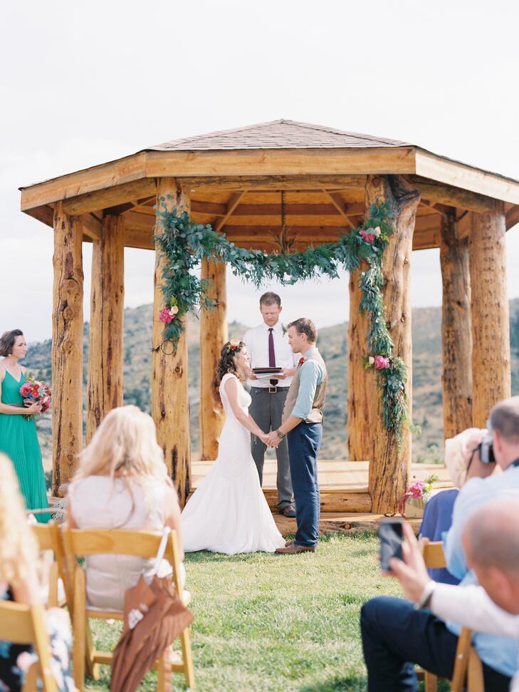 Outdoor boho wedding gazebo