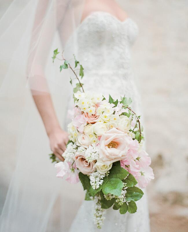 Overgrown wildflower bouquet | Jose Villa | blog.theknot.com