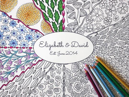 Coloring book guest book
