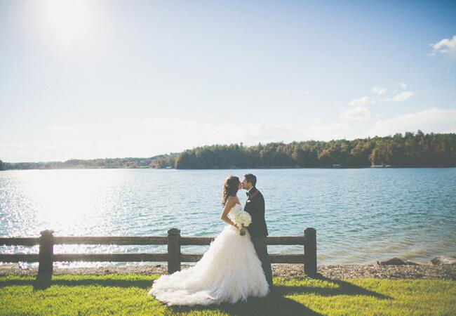Lakeside Couple Shot | The Shultzes | The Knot Blog