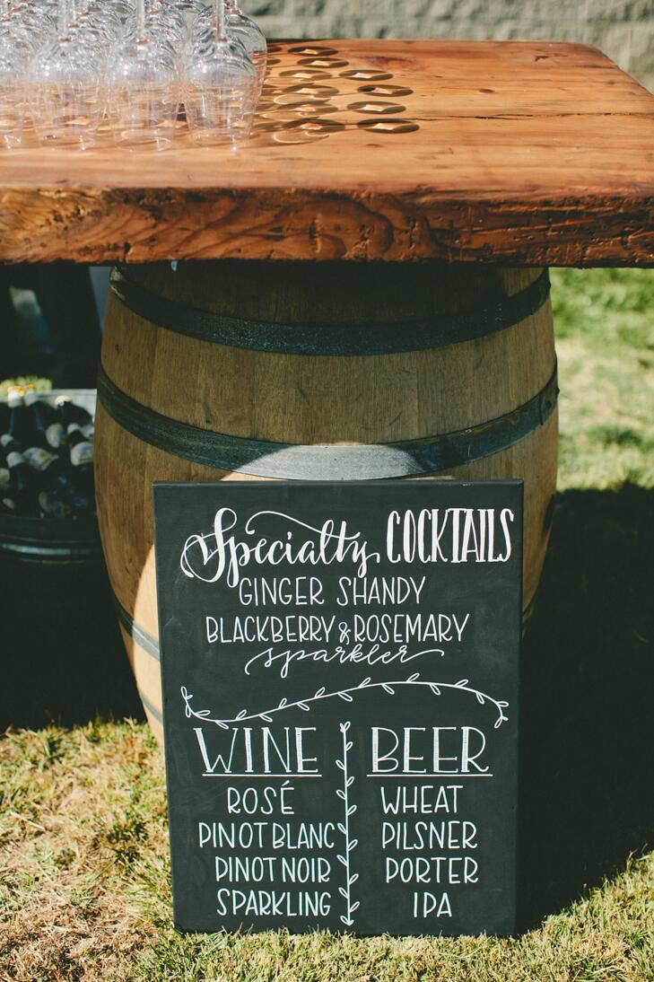 Barrel keg at a wedding