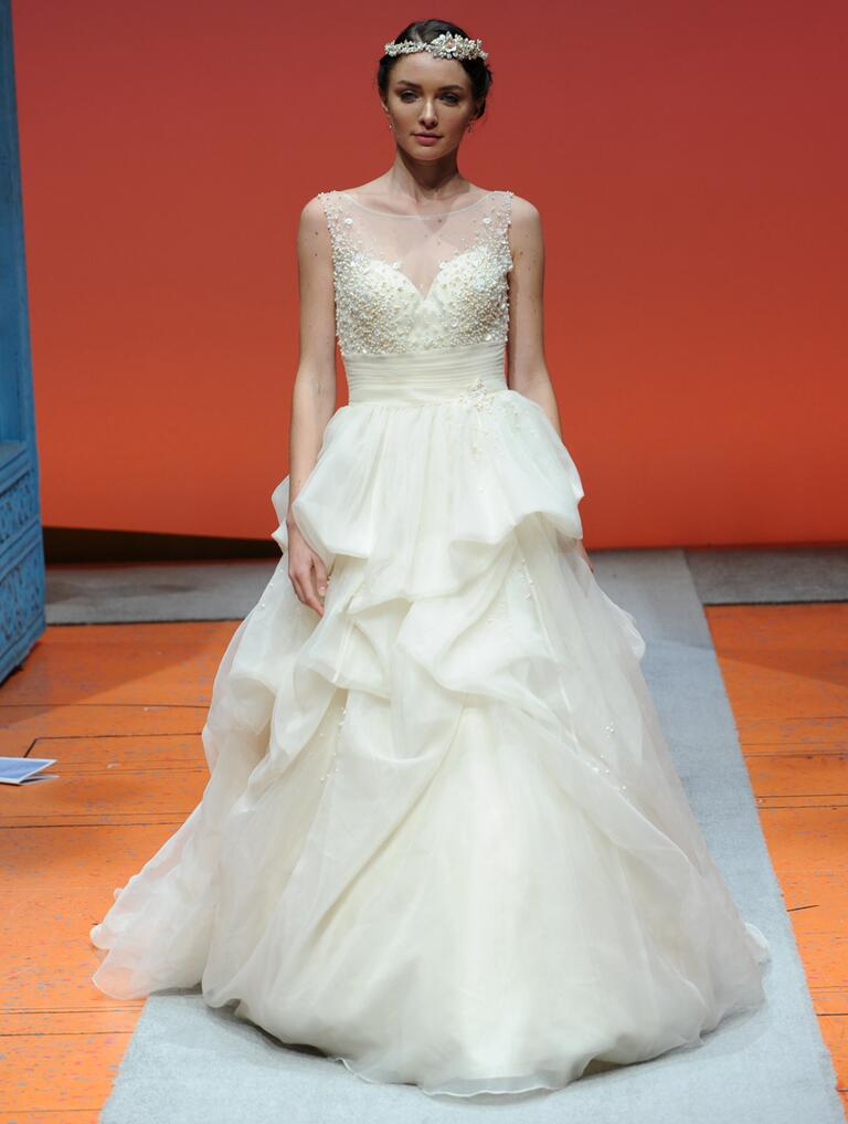 Disney fairy tale weddings by alfred angelo bridal fashion for Sleeping beauty wedding dress