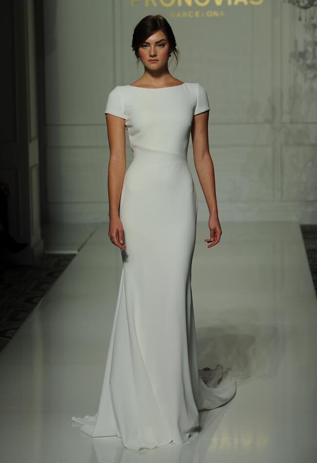 Pronovias fall 2016 collection wedding dress photos for Sheath style wedding dress