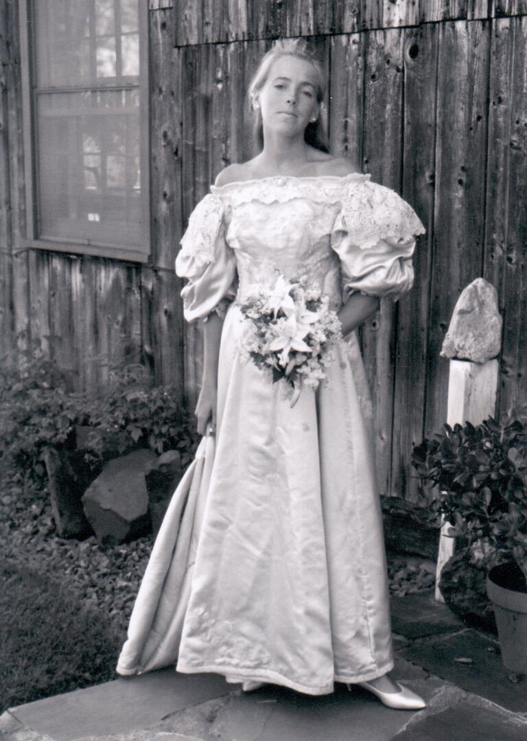Jane Ogden Houston wedding dress from 1986