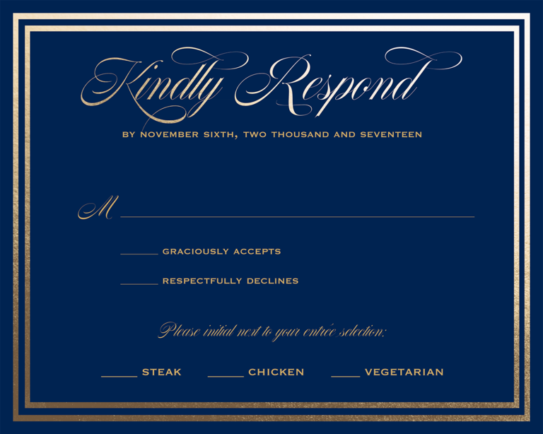Formal Wedding Rsvp Wording Idea