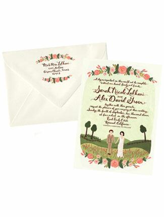 Garden-Inspired Wedding Invitation