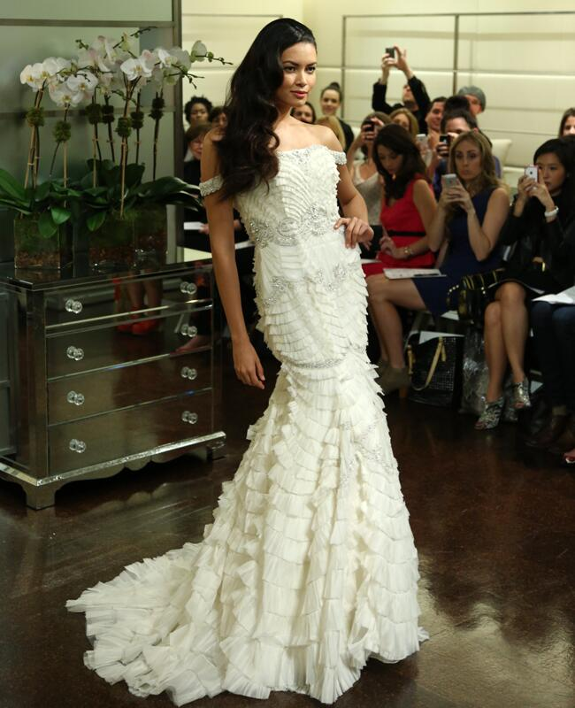 Photographed by Allan Zepeda// Badgley Mischka Wedding Gown Spring 2013 // Featured: The Knot Blog