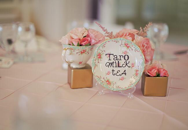 tea table name | Orange Turtle Photography | blog.theknot.com