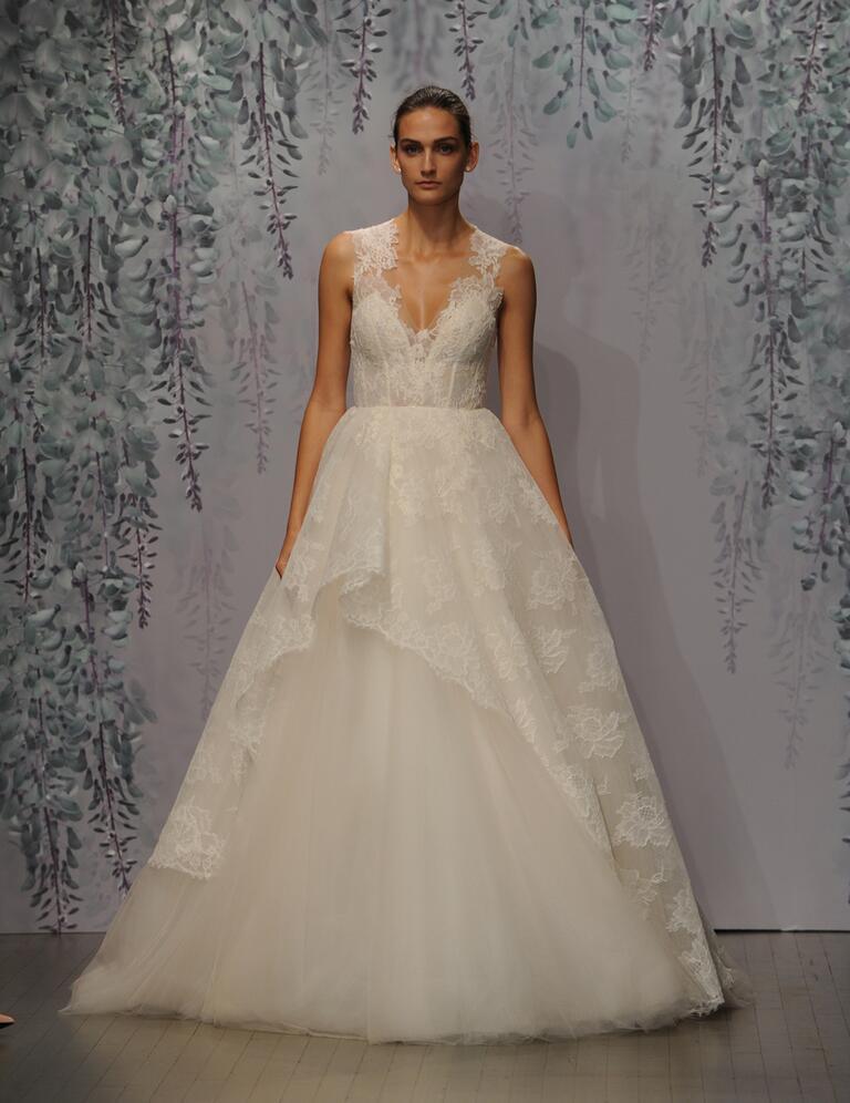 Monique Lhuillier Wedding Dress Detachable Skirt 108