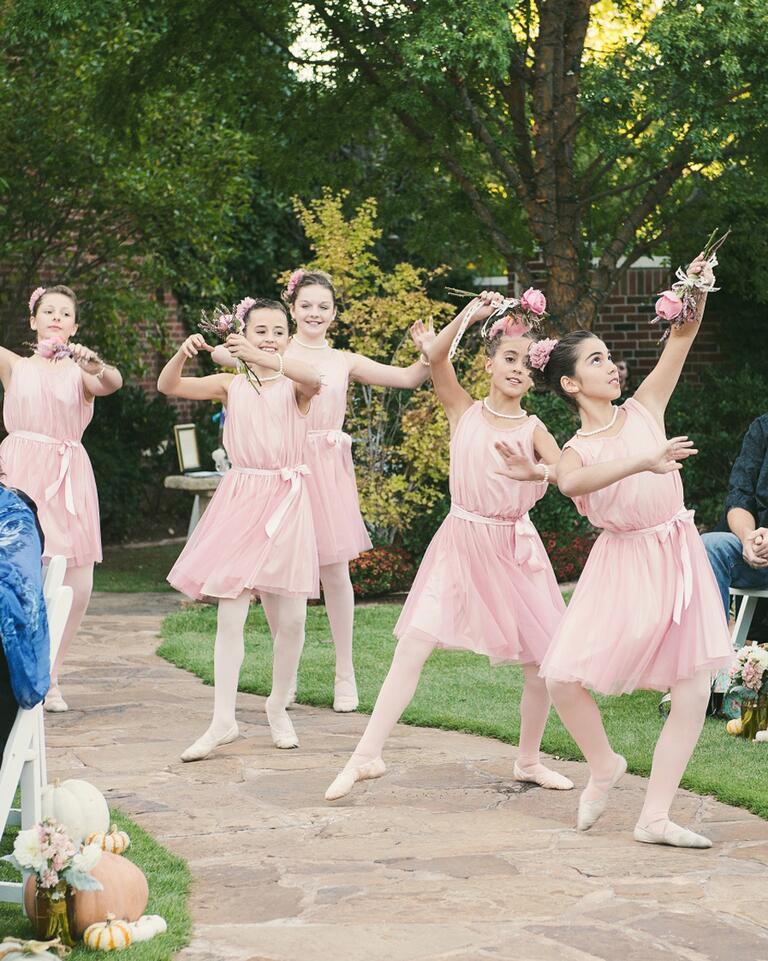 Fun flower girl ballerina idea