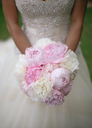 peony bridal bouquet   Cristina Elena Photography   Blog.theknot.com