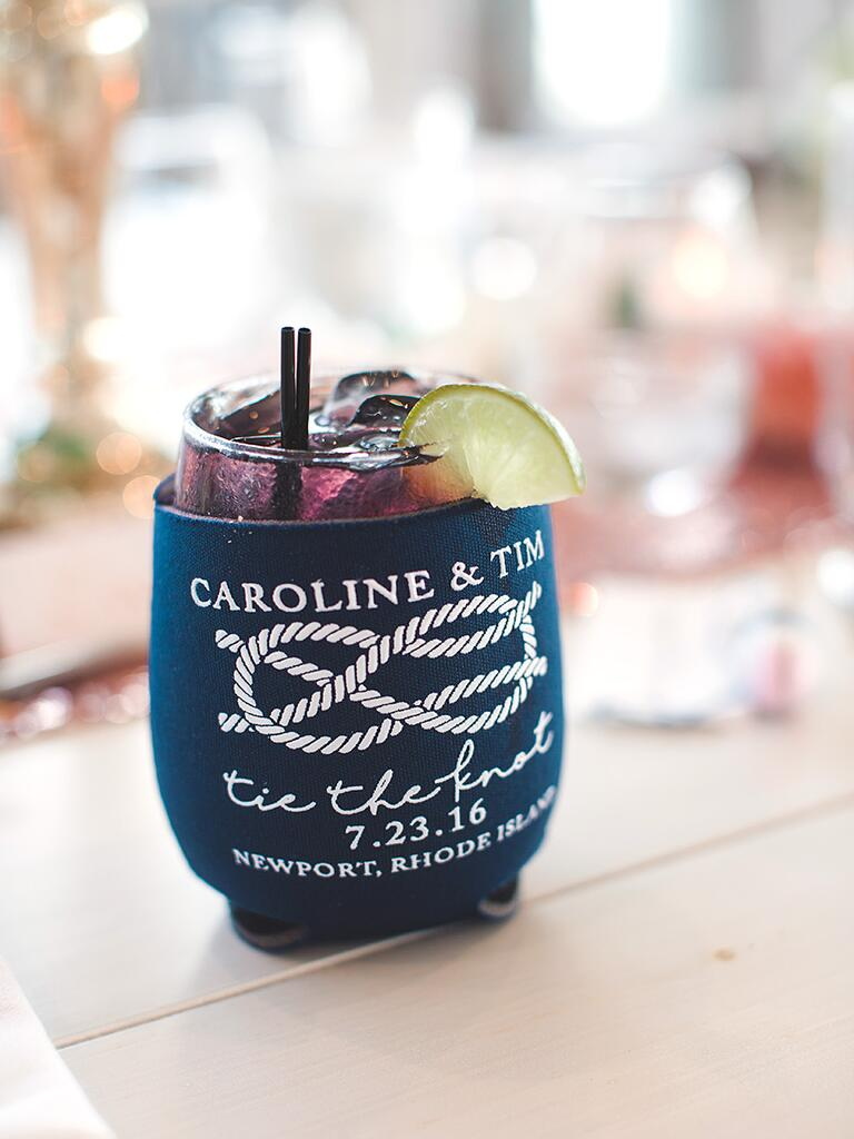 Koozie for an outdoor BBQ wedding