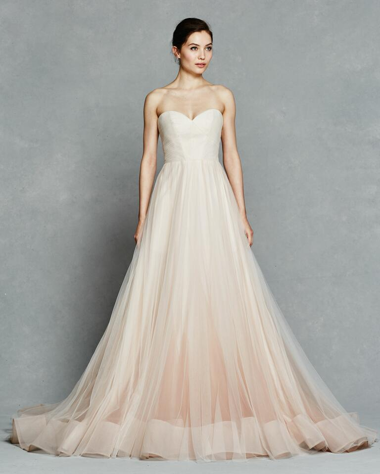 Kelly Faetanini Spring 2017 blush strapless ball gown with sweetheart neckline