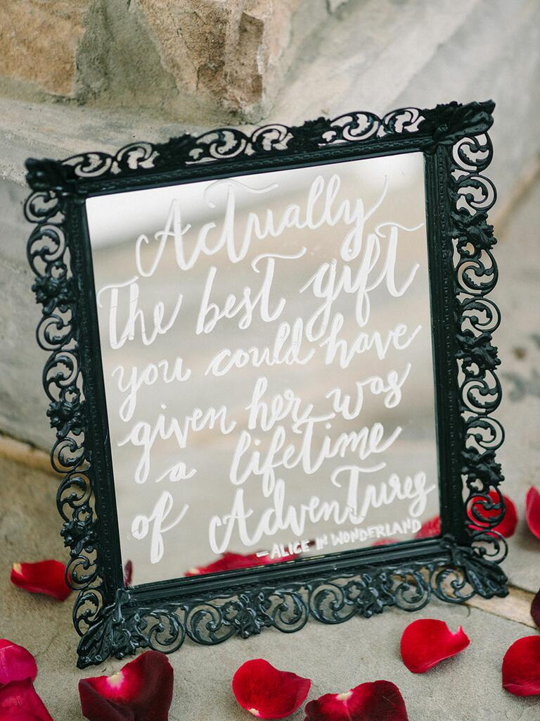Alice in Wonderland wedding sign idea