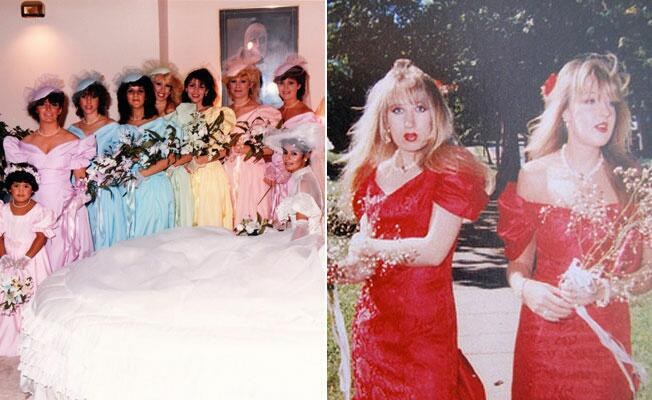 Terrible 80s Bridesmaid Dresses