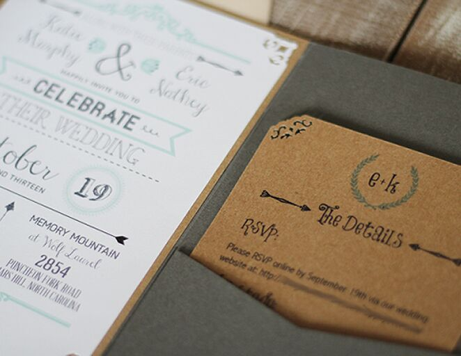kraft paper wedding invitation template - Paper For Wedding Invitations