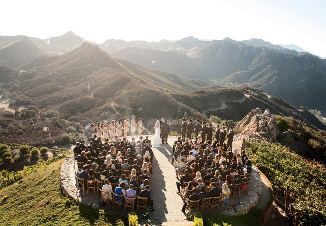 malibu rocky oaks vineyard wedding venue birds of a feather the knot blog