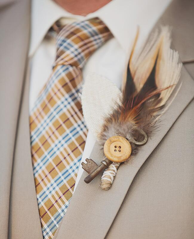 key and button boutonniere |<img class=