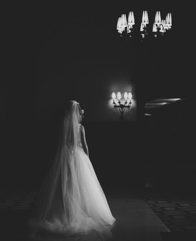 dramatic bridal portrait | Lime Green Photography | blog.theknot.com