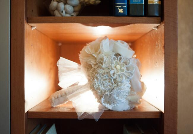 Alternative bridal bouquets, fabric bridal bouquet |<img class=