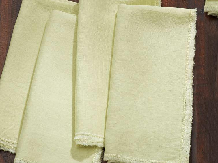 Linen dinner napkins bridal shower gift