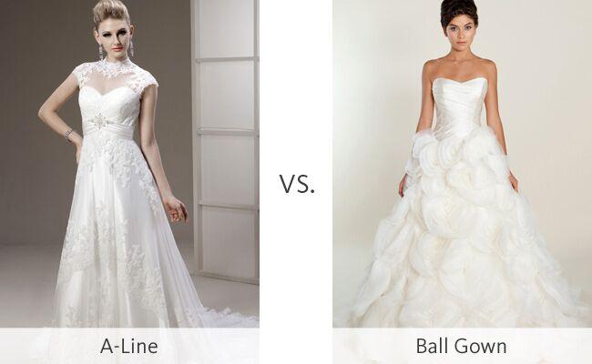 The A Line Wedding Dress Vs The Ball Gown Weddingmadness