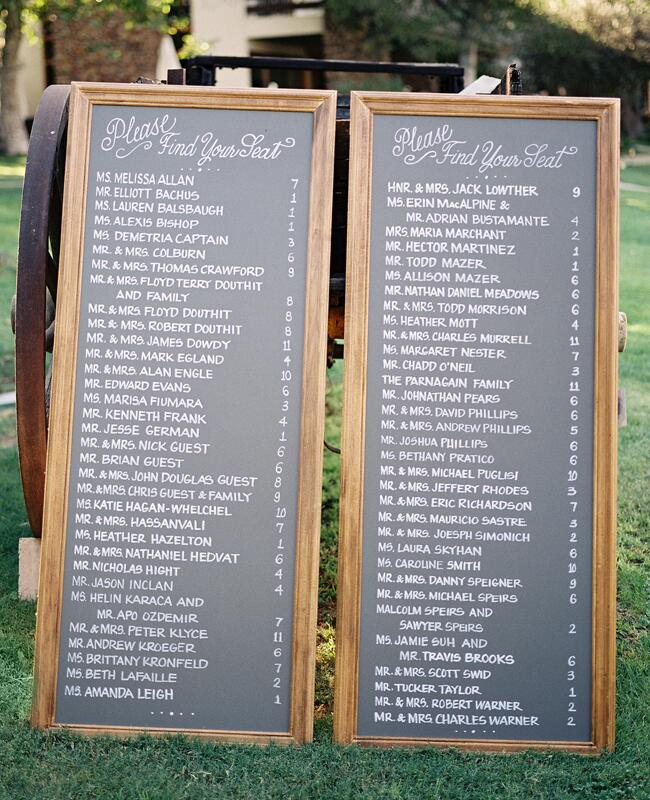 Chalkboard Wedding Seating Chart | Steve Steinhardt Photograph | blog.TheKnot.com