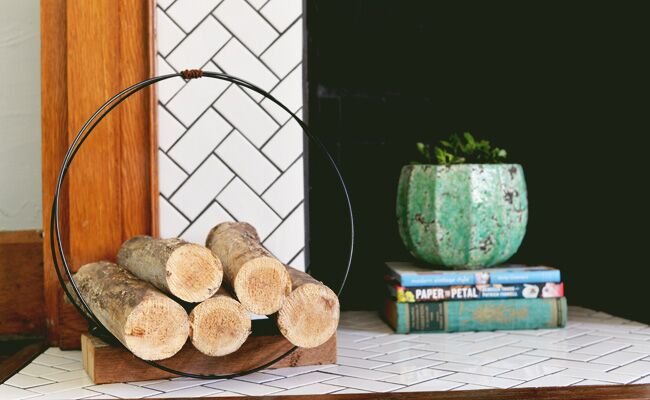 DIY A Mid Century Inspired Firewood Holder For Your Next Autumn Home Project