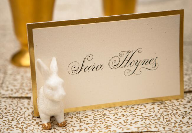 Bunny wedding inspiration: David Turner Photography / TheKnot.com