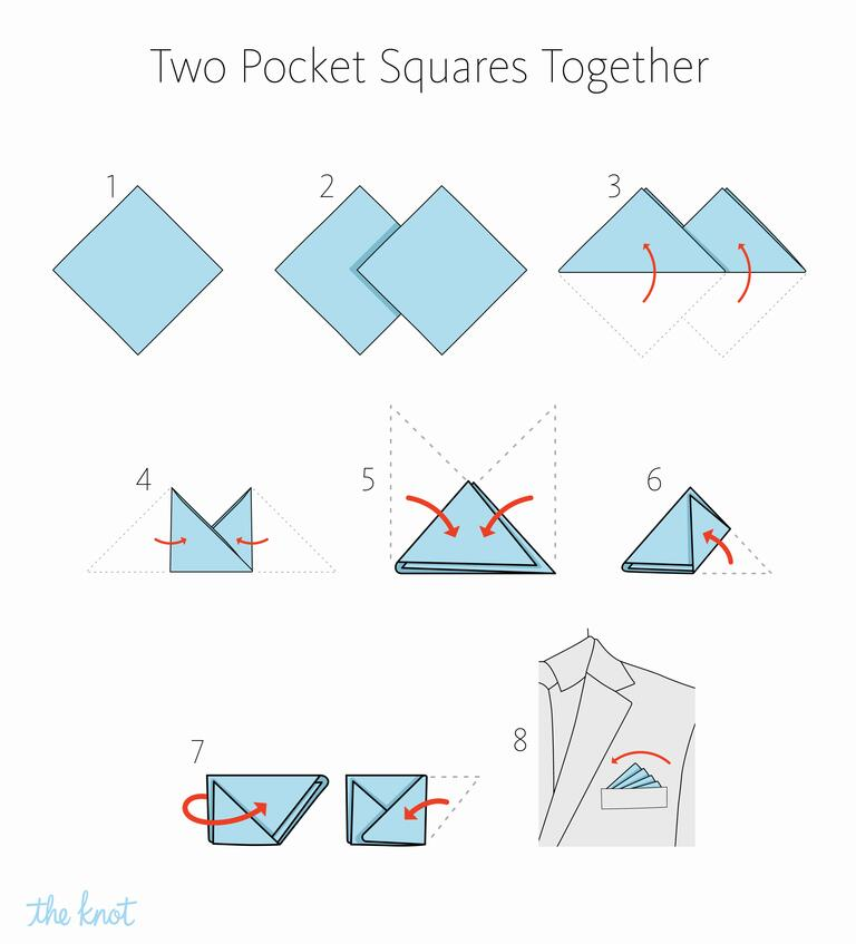 MIKOLO - How to fold two pocket squares together