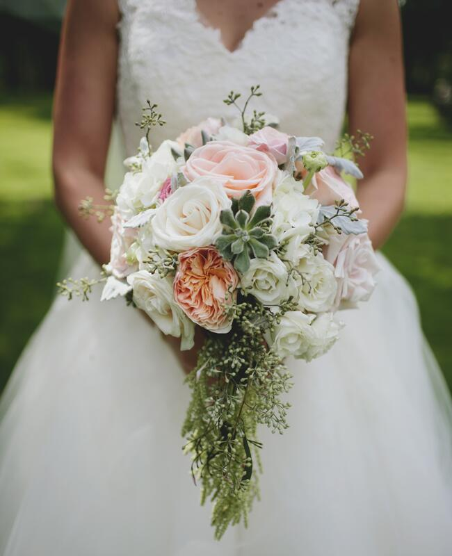 peony and rose bridal bouquet | Lime Green Photography | blog.theknot.com