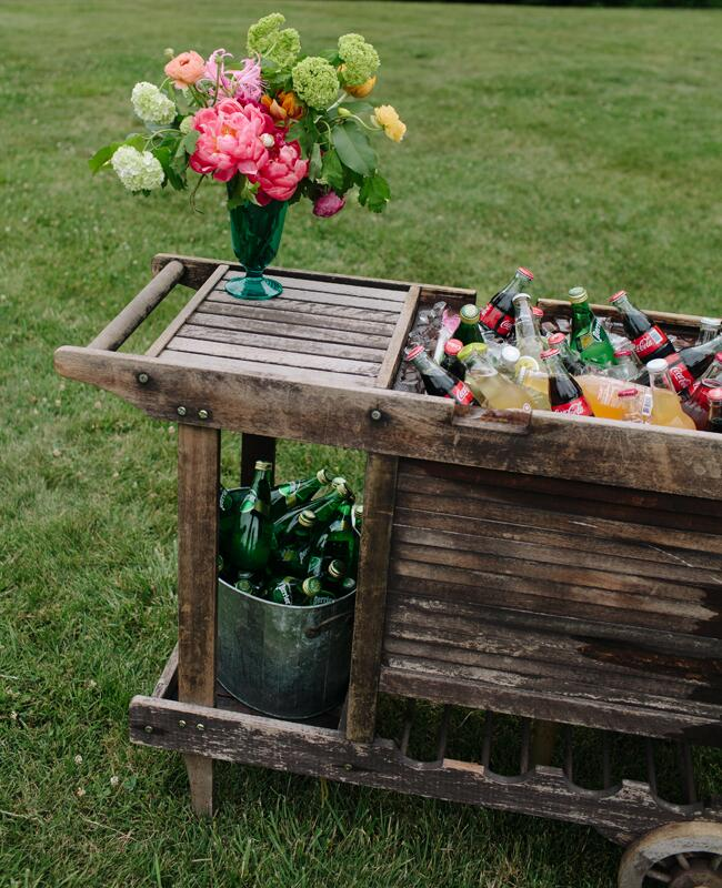 Rustic Bar Cart |<img class=