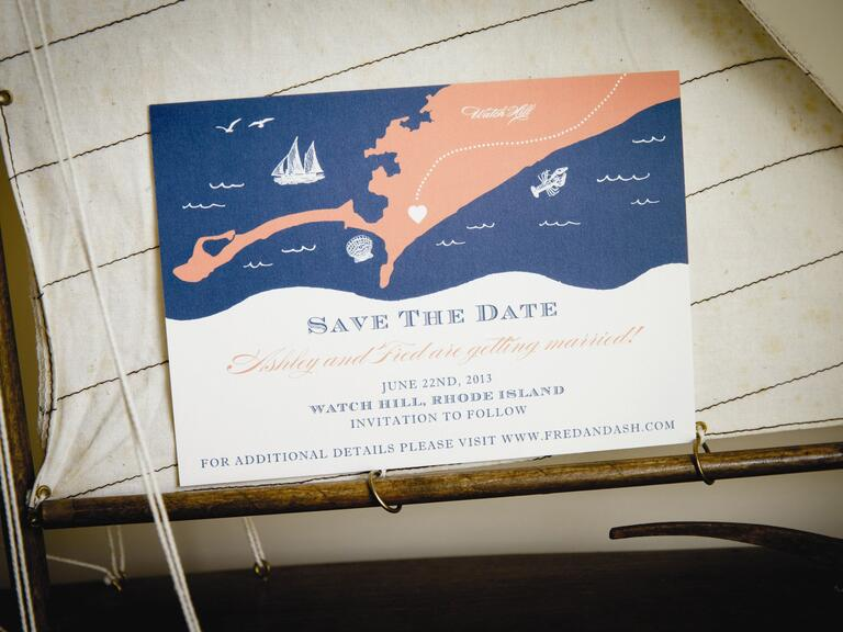 Nautical destination wedding save-the-date