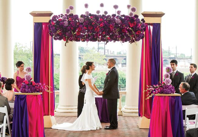 A Bright Pink And Purple Wedding By Wedding Photojournalism By Ron