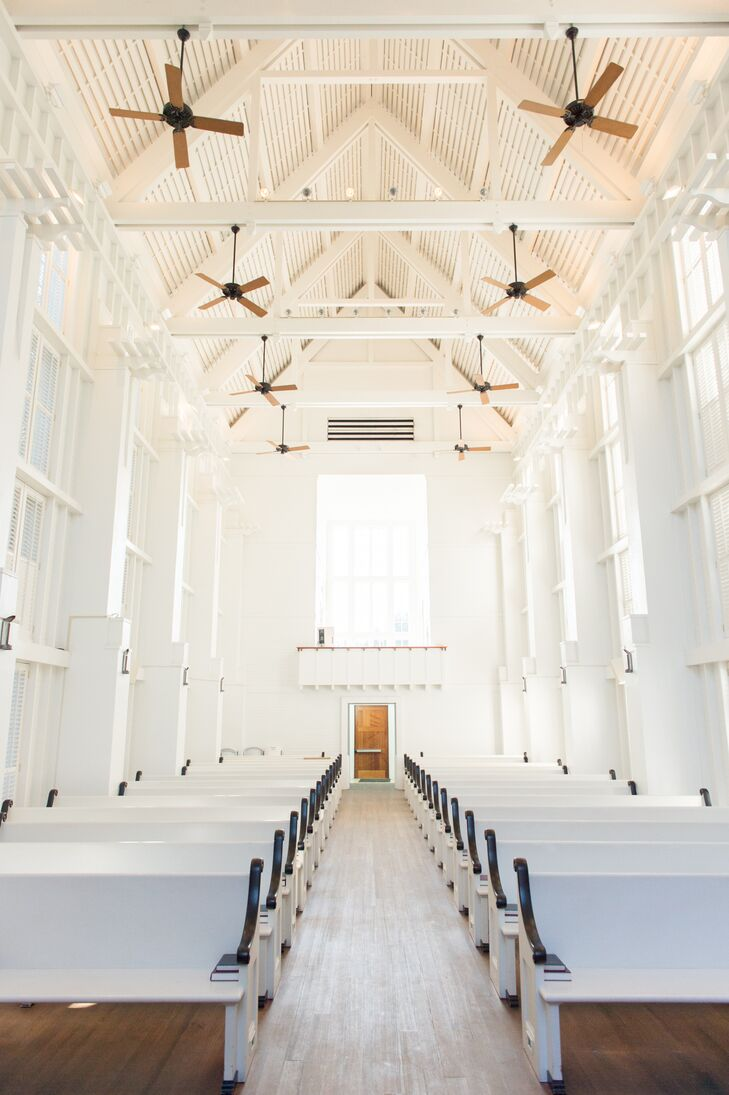 All White And Wooden Chapel In Seaside Florida