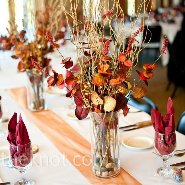 Leaf and berry centerpieces
