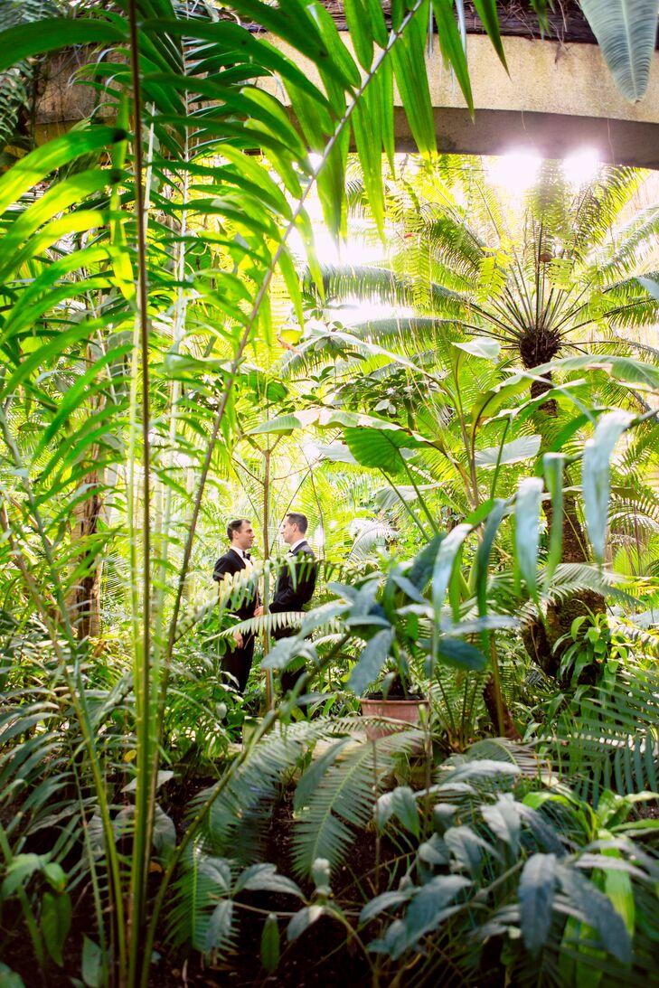 Atlanta Botanical Garden Wedding Photo