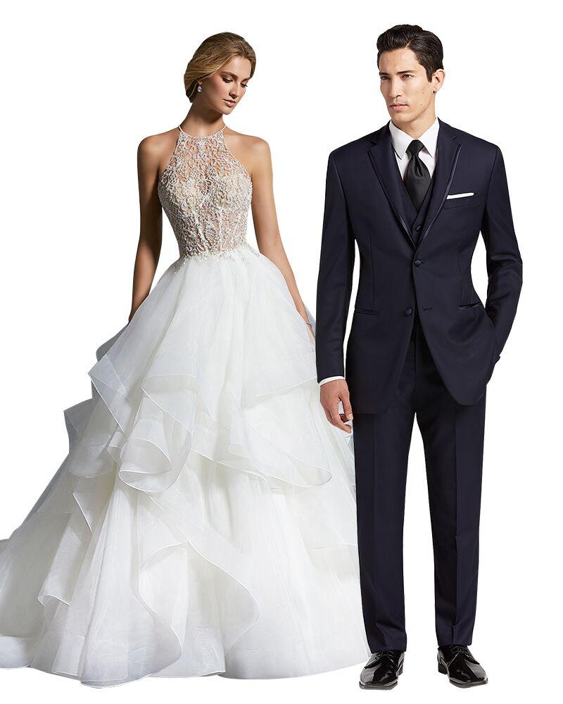 Wedding Dress And Tuxedo Combos