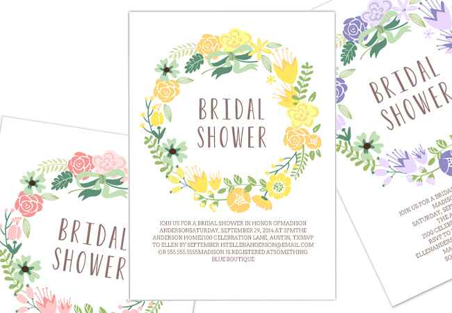 Bachelorette party and bridal shower online invitations: TK / TheKnot.com