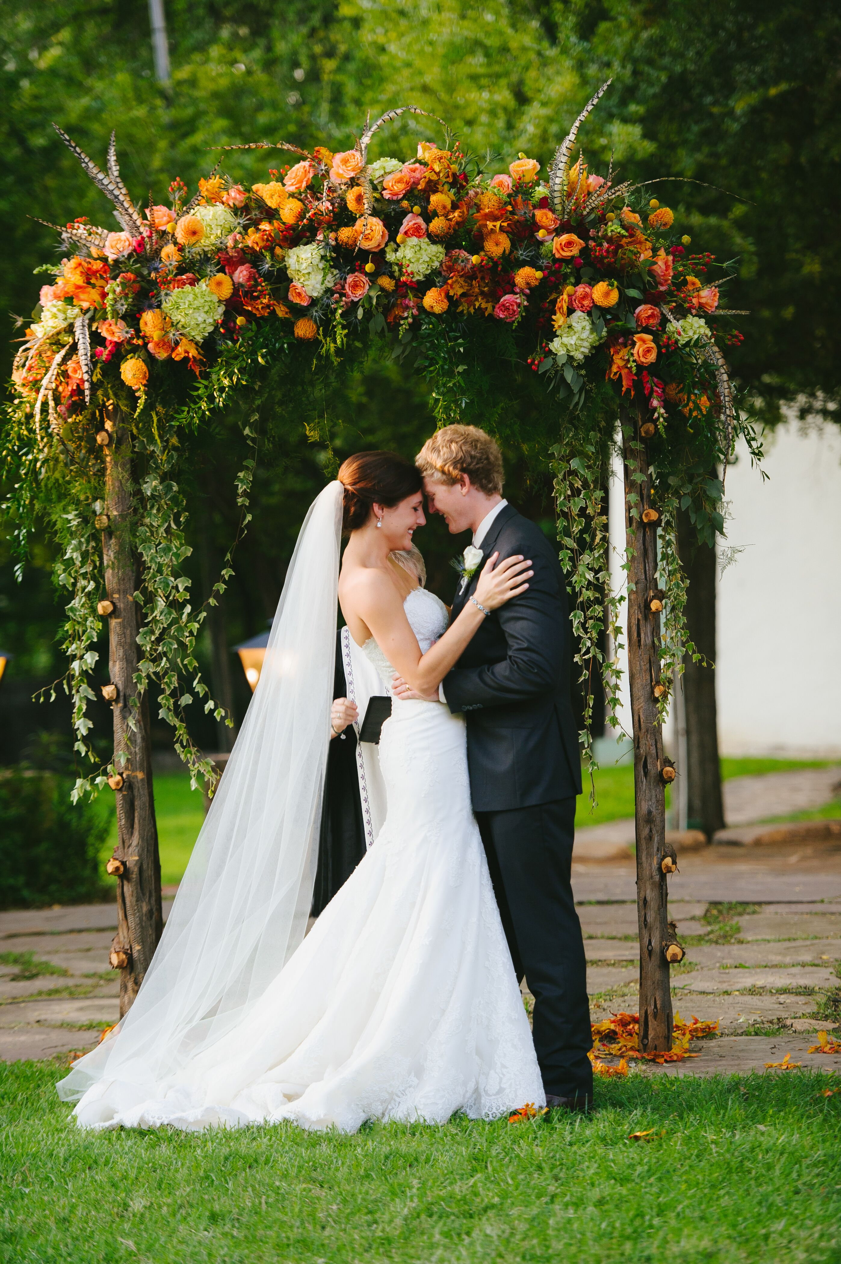 Whimsical Fall Inspired Natural Wedding Arch