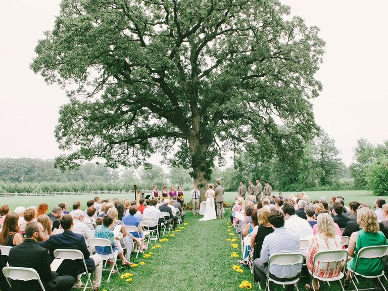 County Line orchard wedding ceremony