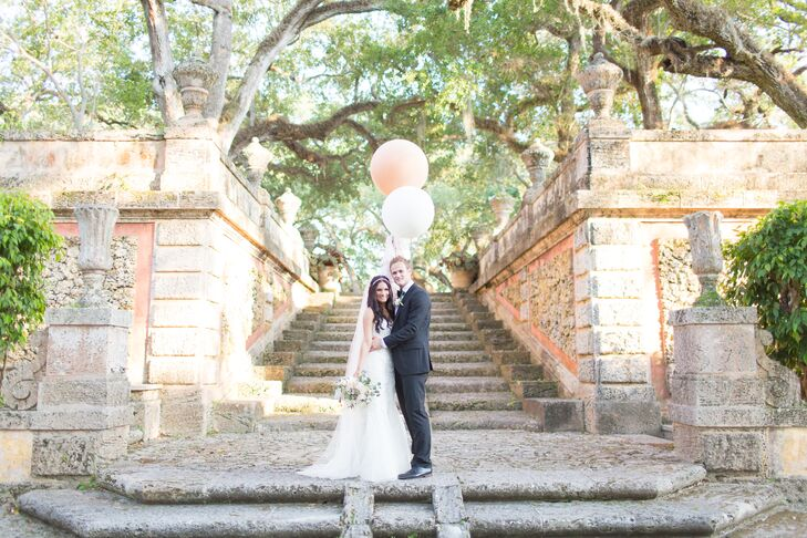 A Garden Wedding At Vizcaya Museum And Gardens In Miami Florida