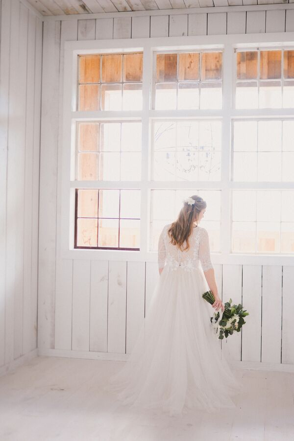 Lace Illusion BHLDN Gown