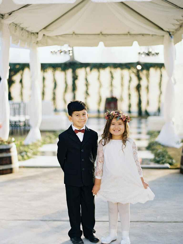 Cute kids at wedding