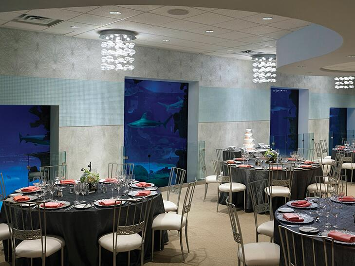 Mandalay Bay Seascape ballroom with aquarium views