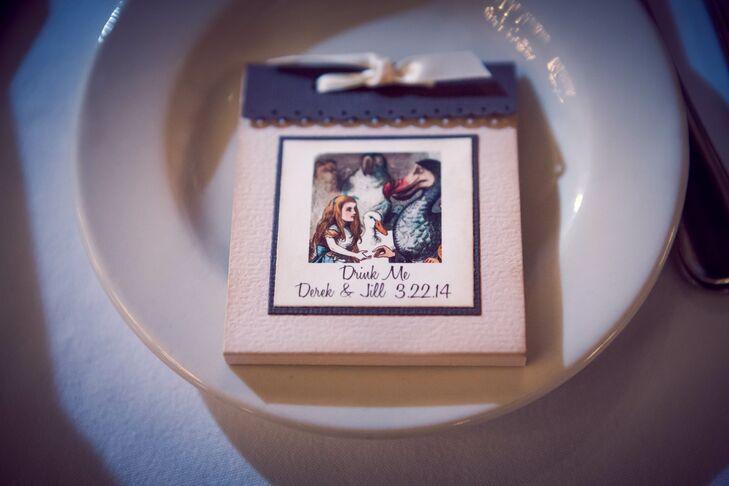 Alice in Wonderland-Themed Wedding Reception Favors