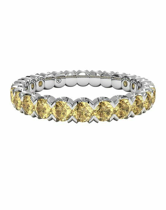Ritani Classic Yellow Sapphire Stackable Band in Palladium Wedding Ring photo